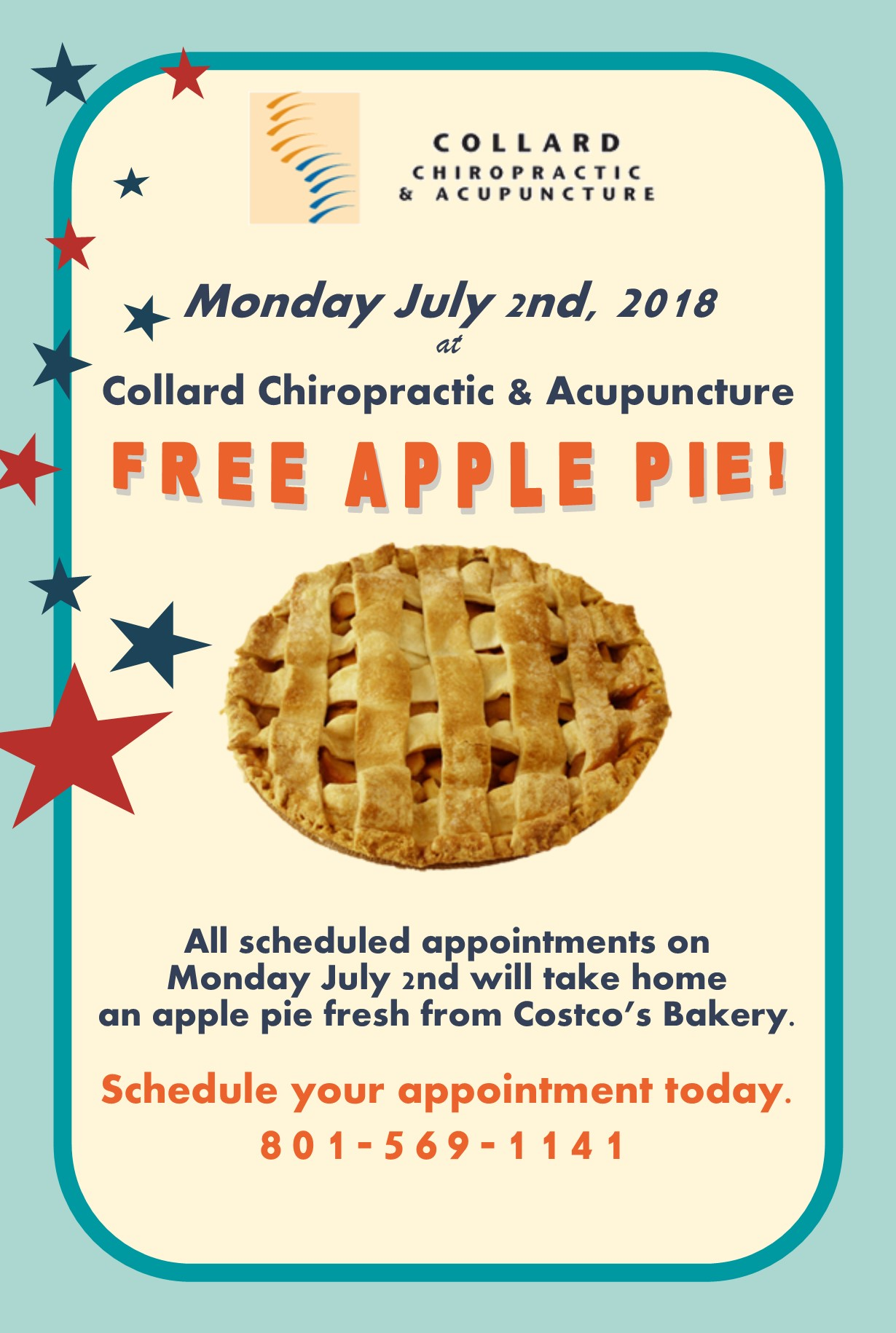 free apple pie post card 2018 front